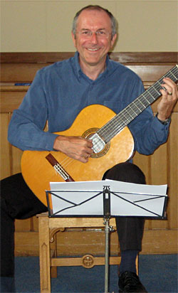 Derek Hasted - Guitar Teacher - qualifed and experienced - Lessons for all abilities